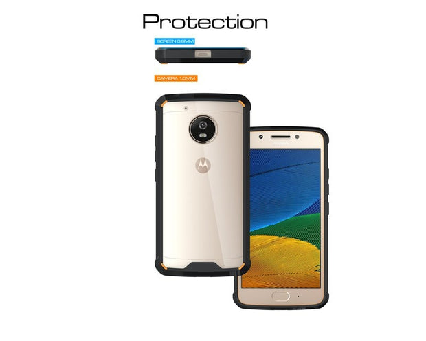 Slim-Fit Shockproof PC+TPU Transparent Thin Crystal Clear Hard Case For Motorola Moto G5 (2017)