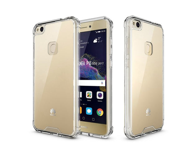 Slim-Fit Shockproof PC+TPU Transparent Thin Crystal Clear Hard Case For Huawei P8 Lite 2017/honor 8 Lite