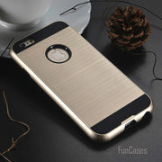 Slim I7 7 Plus Case V5 Hybrid TPU Hard Tough Pastic Armor Case For IPhone 7 7 Plus Brushed Silicone Phone Cover Bags Fundas Capa