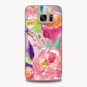 Soft Silicon Beautiful Daisy Rose Flower Plant Case For Samsung Galaxy S7 Case Pattern Words Mobile Phone Case