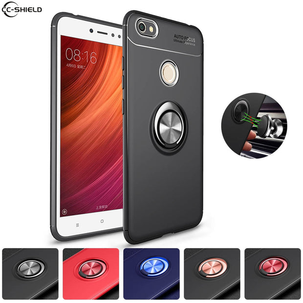 buy online 5746f 7df22 Soft Silicone Case For Xiaomi Redmi Note A5 5 A Prime Case Ring Phone Cover  For Xiaomi Redmi Note 5A Prime Redmi Y1 TPU Cases