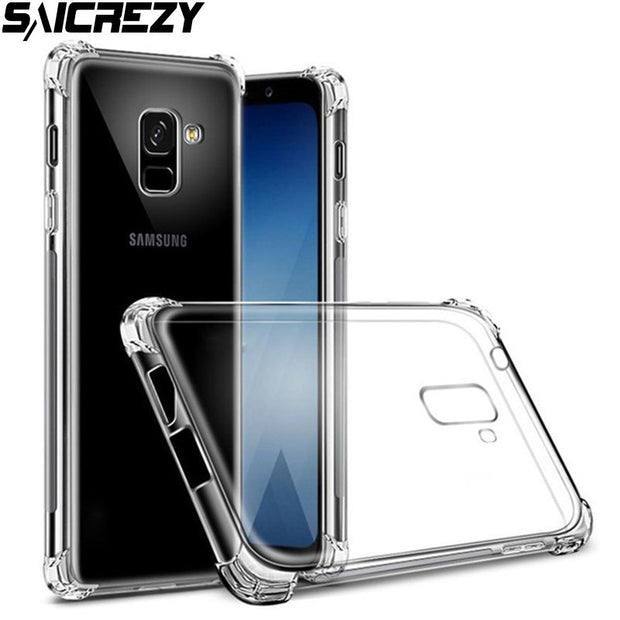 Soft Silicone Shockproof Case For Samsung Galaxy S8 S9 Plus Note 8 9 A6 A8 J4 J6 J8 2018 A5 A7 2017 J2 J7 Core Airbag Capa Cover