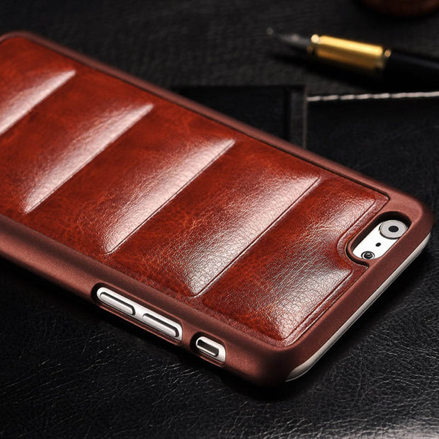 Soft Sofa PU Leather For IPhone 6 6S Case 4.7 Inch Vintage Hard Back Cover Coque For Apple IPhone 6 6S Phone Cases