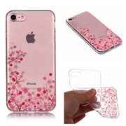 Soft TPU Cover For IPhone 7 Case High Transparent Cherry Blossom Series Design Silicone Mobile Phone Cases Covers For IPhone 8