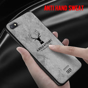 Soft TPU Edge Canvas Embossed Deer Phone Case For Xiaomi Pocophone Poco F1 Mi8 Mi6x Mi A2 Lite Case Redmi 6 Pro Note 5 6A Cover