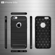 Soft TPU Silicone Back Cover Case For IPhone 6/6S Carbon Fiber Brushed Fundas Ultra-thin Shockproof Coque For IPhone 6/6S Case