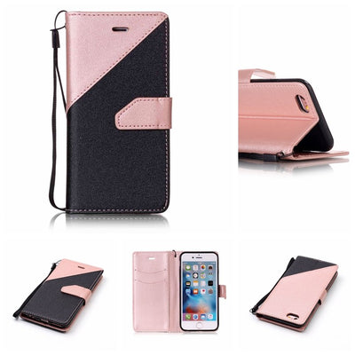 Stitching Leather Sleeve For IPhone 6 6s A1549 A1589 A1586 Phone For IPhone 6 S6 Cases A1688 A1633 A1691 A1700 Cover Case 4.7""