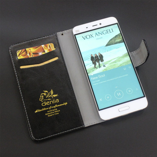 TOP New! BQ BQS-5055 Turbo Plus Case 5 Colors Flip Luxury Leather Case Exclusive Phone Cover Credit Card Holder Wallet+Tracking