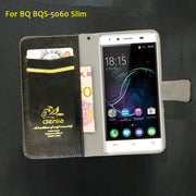 "TOP New! BQ BQS-5060 Slim Case 5"" 5 Colors Flip Luxury Leather Case Exclusive Phone Cover Credit Card Holder Wallet+Tracking"
