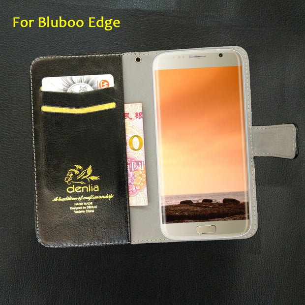 TOP New! Bluboo Edge Case 5 Colors Flip Ultra-thin Luxury Leather Case Exclusive Phone Cover Credit Card Holder Wallet+Tracking