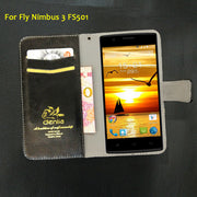 TOP New! Fly FS501 Nimbus 3 Case 5 Colors Flip Luxury Leather Case Exclusive Phone Cover Credit Card Holder Wallet+Tracking