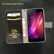 TOP New! Homtom HT27 Case 5 Colors Flip Ultra-thin Leather Case Exclusive Phone Cover Credit Card Holder Wallet+Tracking