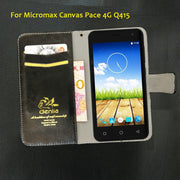 TOP New! Micromax Canvas Pace 4G Q415 Case 5 Colors Flip Leather Case Exclusive Phone Cover Credit Card Holder Wallet+Tracking