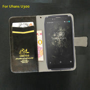 TOP New! Uhans U300 Case 5 Colors Luxury Leather Case Fashion Exclusive Phone Cover Credit Card Holder Wallet+Tracking