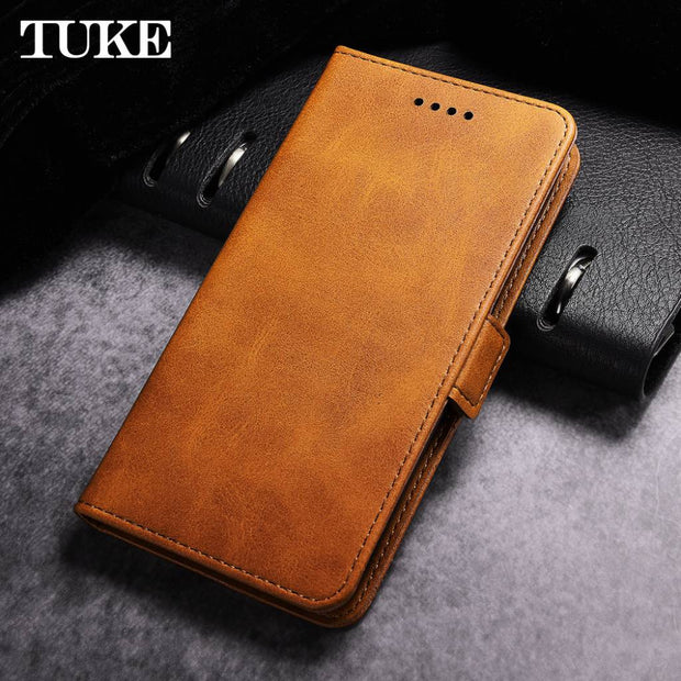 detailed pictures 2db28 2b3b5 TUKE Alcatel A3 XL Case 6.0'' Alcatel A3 XL 9008D Cover Flip Luxury Leather  Wallet Silicone Case For Alcatel A3 XL A3XL Phone
