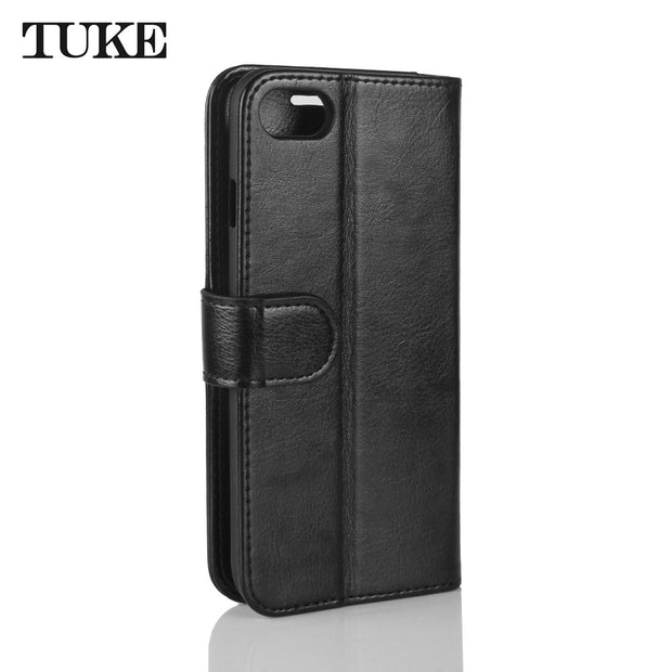 TUKE Case For IPhone 8 7 Cover Leather Luxury Wallet Card Slots Back Capa For Apple IPhone7 IPhone8 Cases Flip Silicone Fundas