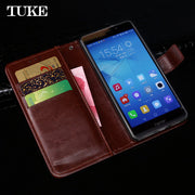 TUKE For Huawei Honor 5C Case Leather Cover Flip Funda For Huawei Honor 5C EU 6X 6 5A 4X 4C Play V9 Play V8 8 9 7 7i Wallet Case