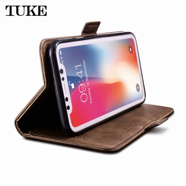 TUKE For Samsung J5 2015 Coque Luxury Flip Leather Case For Samsung Galaxy J5 Case J500F Fundas Holder Stand Wallet