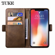 TUKE Leather Phone Case For Samsung Galaxy A6 2018 Cover For Samsung Galaxy A6 2018 Etui Case