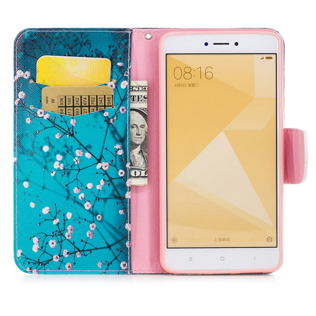 TopArmor Case Bags PU Leather Cover For Xiaomi Redmi Note 4X 5.5 Inch Flip Stand Shell For Xiaomi Redmi Note 4X Phone Case Coque