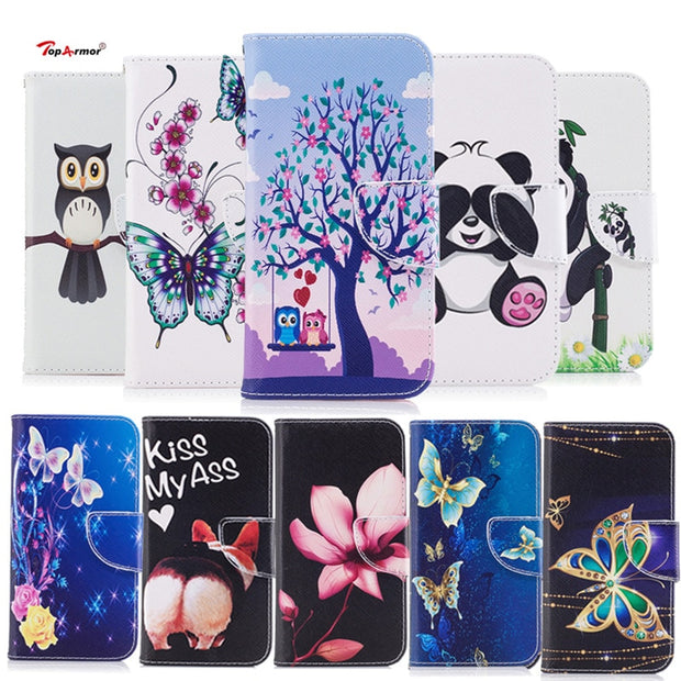 TopArmor New Case Bags PU Leather Cover For Huawei P20 5.8 Inch Flip Stand Card Slots Wallet Shell For Huawei P20 Skin Case Capa