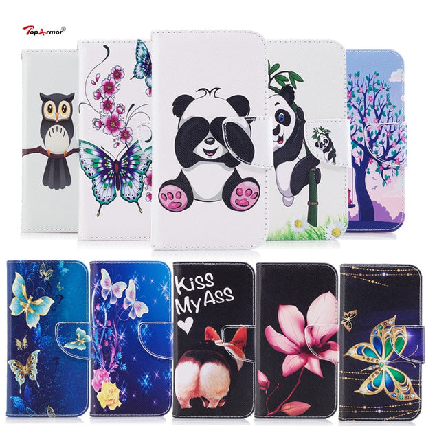 TopArmor New Case Bags PU Leather Cover For Huawei P20 Lite Flip Stand Card Slots Wallet Shell For Huawei Nova 3e Skin Case Capa