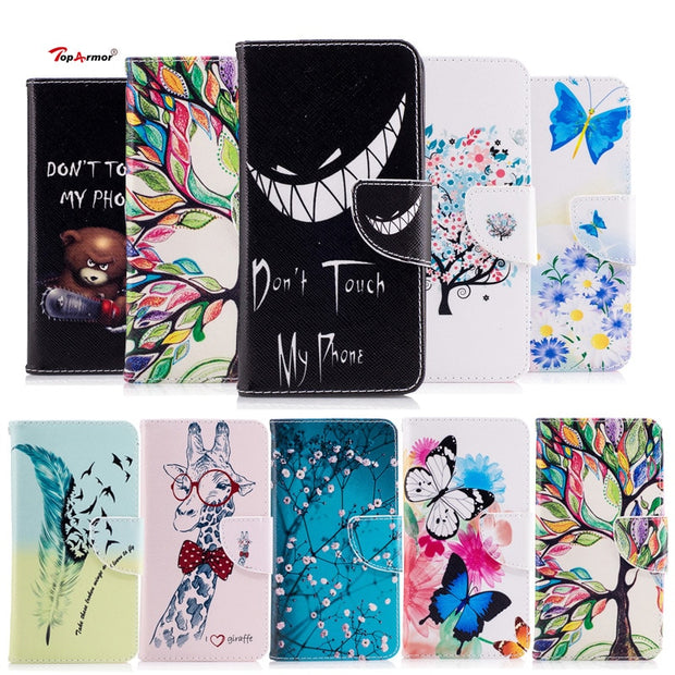 TopArmor Phone Case Bags PU Leather Cover For Motorola Moto G5S 5.2 Inch Flip Stand Shell For Motorola Moto G5S Phone Case Coque