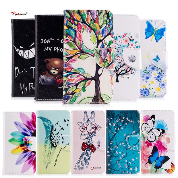 TopArmor Phone Case Bags PU Leather Silicone Cover For Huawei P20 Lite Wallet Flip Stand Shell For Huawei Nova 3e Skin Case Capa