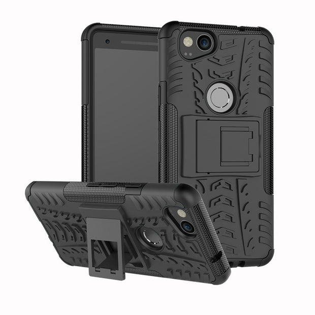 Tough Rugged Shockproof Armorbox Dual Layer Hybrid Hard Plus Soft Slim Armor Phone Protective Cover Case For Google Pixel 2