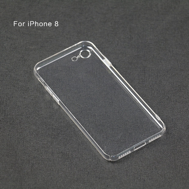 Transparent Crystal Clear Slim Fullbody 360 Degrees Protective Hard PC Case For IPhone 8/iPhone 8 Plus
