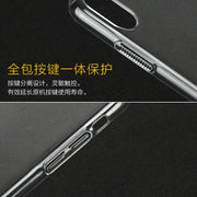 Transparent Crystal Clear Slim Fullbody 360 Degrees Protective Hard PC Case For IPhone X