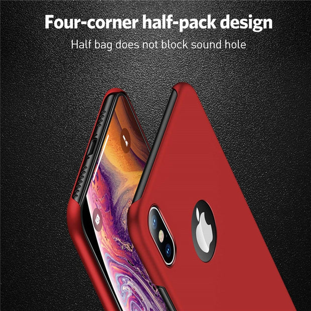 USLION Phone Case For IPhone XS Max X Luxury Matte Hard PC Case For IPhone X XS Max Simple Solid Color Cases Phone Cover Shell