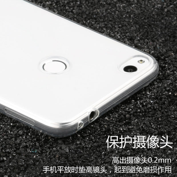 Ultra-thin Transparent Soft TPU Case For Huawei P8 Lite 2017 Silicone Protective Back Cover For Huawei Honor 8 Lite Phone Shell
