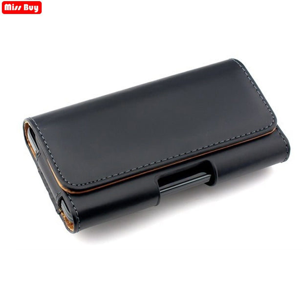 Universal Casual Leather Phone Pouch For Samsung Galaxy A9 2018 Case 9 A9S A A9 A920 A920F Cover Waist Case Holster Bag Belt