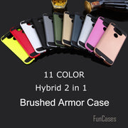 V5 Hybrid 2-IN-1 Silicone Case For LG G5 Plastic Armor Back Cover Hard Case TPU Brushed G5 Smart Phone Protect Case Fashion Ajax