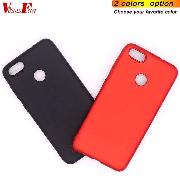 Viewfar Red Case For Huawei Enjoy 7 Y6 Pro 2017 P9 Lite Mini Cover Enjoy7 Y6pro2017 P9litemini Cases Soft TPU Black Plastic Gel