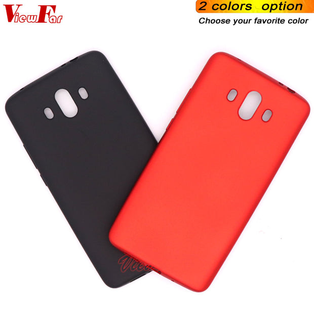 Viewfar Red Case For Huawei Mate 10 Cover Mate10 New Arrival Cases Soft TPU Black Plastic Matte Gel Plain Fundas Color Anti Fall