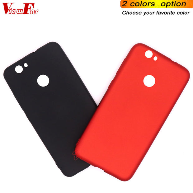 Viewfar Red Case For Huawei Nova Cover Hot Selling Cases Soft TPU Black Plastic Matte Gel Plain Fundas Anti Fall Back Protection