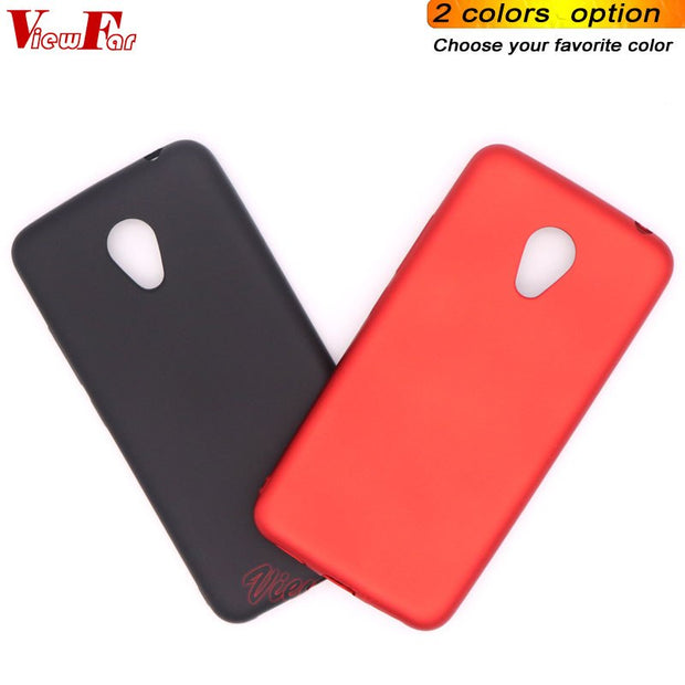 Viewfar Red Case For Meizu Meilan E3 Cover MeilanE3 E 3 Cases Soft TPU Black Plastic Matte Gel Plain Funda Color Anti Fall Dirty