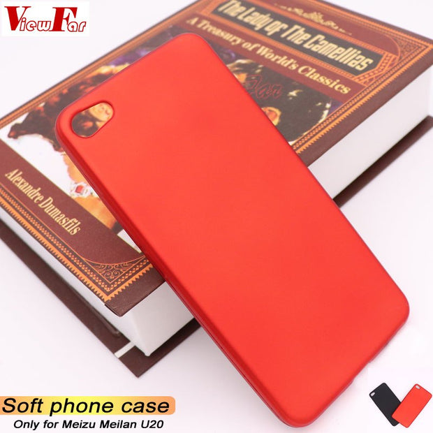 Viewfar Red Case For Meizu Meilan U20 Cover MeilanU20 U 20 Case Soft TPU Black Plastic Matte Hot Gel Plain Funda Anti Fall Dirty