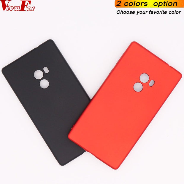 Viewfar Red Case For Xiaomi Mi Mix Cover For Xiaomi Mi Mix Case Soft TPU Black Back Cover For Mi Mix Matte Plastic Gel Anti Fall
