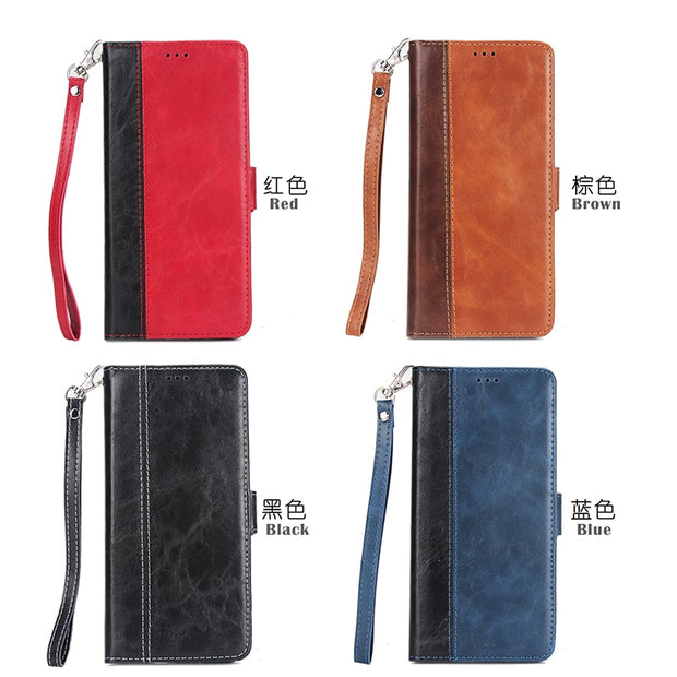 Vintage Flip Leather Phone Case For Huawei P20 Lite P10 P9 Plus P8 Lite 2017 Splice Stands Wallet Cover For P20 Pro Honor 8 9 10