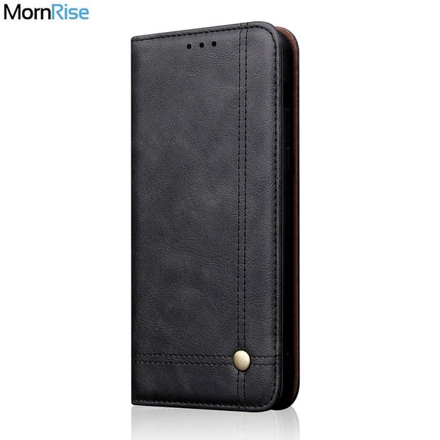 Vintage Leather Flip Cover For Samsung Galaxy A9 2018 Wallet Luxury Card Pocket Stand Magnet Book Cover Casual Phone Case Fundas