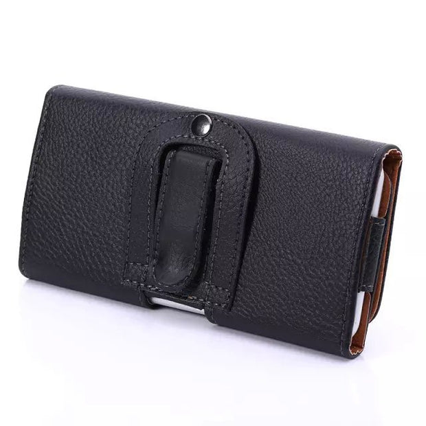 "Vintage Mountaineering PU Leather Waist Belt Pocket Holster Bag Universal Phone Cover Case For All Smart Phone 4.7"" Below"