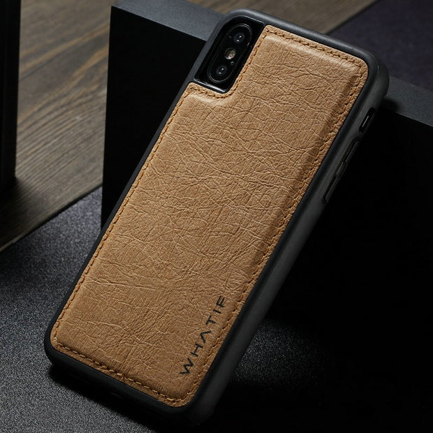 cheap for discount fa405 ed242 WHATIF Phone Cases For IPhone XS Max DIY Paper Luxury Unique Leather Back  Case For IPhone XS Max Ultra Thin Back Cover Coque