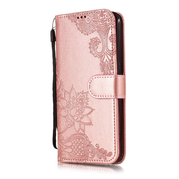 Wallet Case For Huawei Honor 9 Lite 8 7x 7c 6x Cover On Luxury Retro PU Leather Flip Phone Case For Huawei Honor 10 Cases Covers
