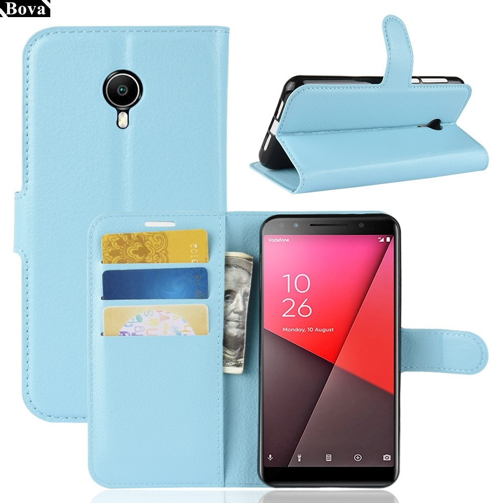 release date d429d fe084 Wallet Cover Card Holder Phone Cases For Vodafone Smart N9 Lite 5.34-inches  Pu Leather Case Protective Cover