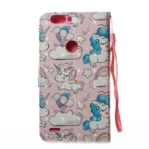 Wekays Case For Coque ZTE Blade Z MAX Pro 2 Z982 3D Cute Cartoon Unicorn Leather Flip Fundas Cases For ZTE Z982 Zmax Pro2 Cover