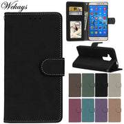 Wekays Case For Huawei Nova Plus Black Business Matte Leather Flip Funda Case For Huawei Ascend G9 Maimang 5 Maimang5 Cover Case