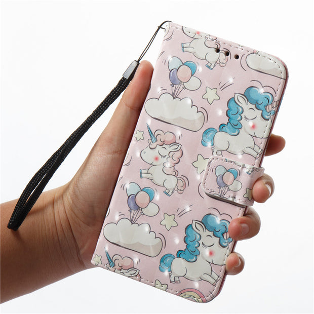 Wekays Case For Xiaomi RedMi 4A 4 A Cute Cartoon 3D Unicorn Skull Leather Fundas Case SFor Coque Xiaomi RedMi 5A 5 A Cover Cases